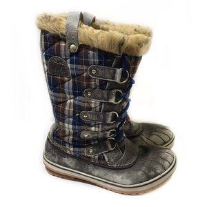 Sorel 8 Plaid Tofino Winter Boots Faux Waterproof